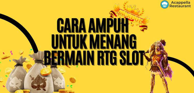 Banner Cara Ampuh Untuk Menang Bermain RTG Slot